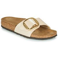 Shoes Women Mules Birkenstock MADRID BIG BUCKLE Graceful / Pearl / White