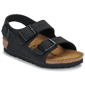 Shoes Boy Sandals Birkenstock MILANO Nubuck /  black