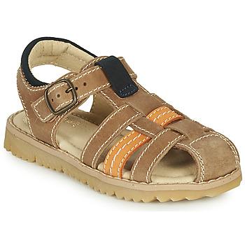 Shoes Boy Sandals André LEOPAUL Brown