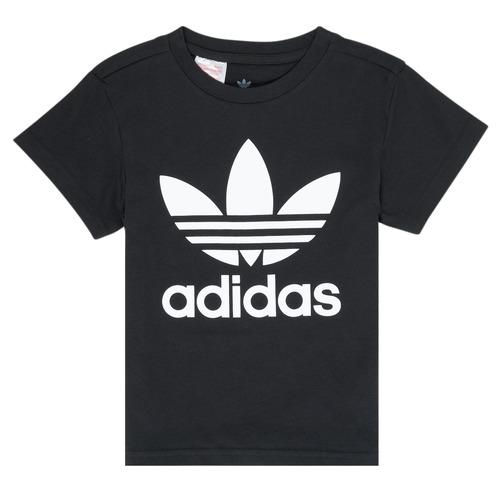 Clothing Children Short-sleeved t-shirts adidas Originals LEILA Black