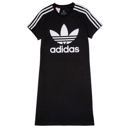 Clothing Girl Short Dresses adidas Originals SALOME Black