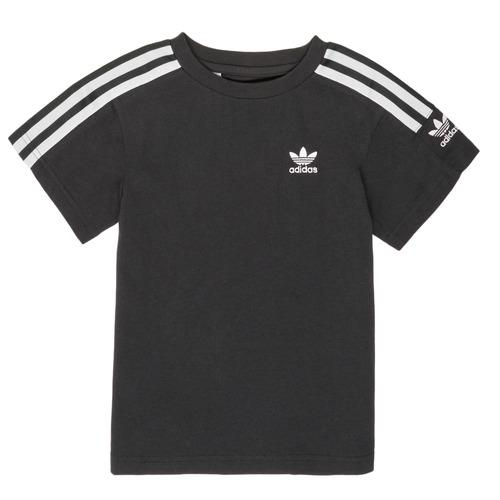 Clothing Boy Short-sleeved t-shirts adidas Originals MINACHE Black