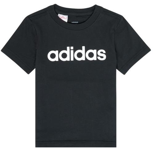 Clothing Boy Short-sleeved t-shirts adidas Performance NATAZO Black