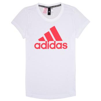 Clothing Girl short-sleeved t-shirts adidas Performance ELIOTE White