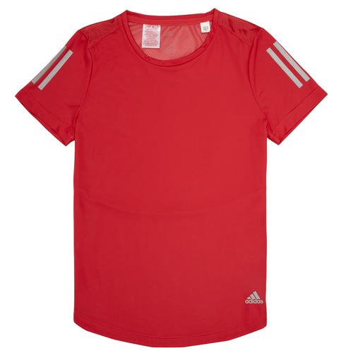 Clothing Girl Short-sleeved t-shirts adidas Performance MELINDA Red