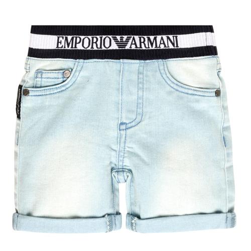Clothing Boy Shorts / Bermudas Emporio Armani Ariel Blue