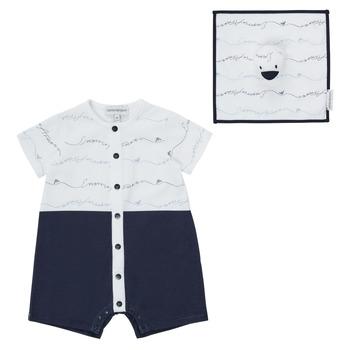 Clothing Boy Jumpsuits / Dungarees Emporio Armani Edouard Marine