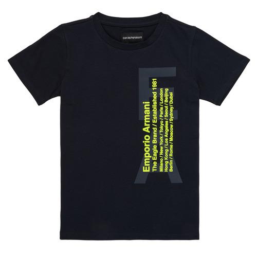 Clothing Boy short-sleeved t-shirts Emporio Armani Andoni Marine