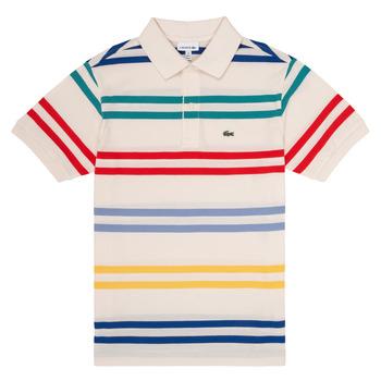 Clothing Boy short-sleeved polo shirts Lacoste HENRI Multicolour