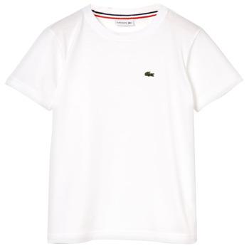 Clothing Boy Short-sleeved t-shirts Lacoste APAULINE White