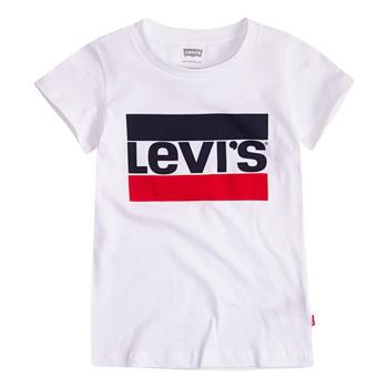 Clothing Girl Short-sleeved t-shirts Levi's SPORTSWEAR LOGO TEE White