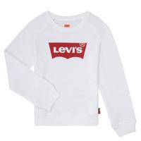 Clothing Girl Sweaters Levi's KEY ITEM LOGO CREW White