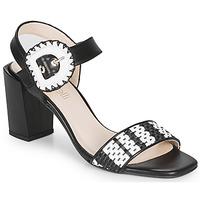 Shoes Women Sandals Fericelli MAIRA Black / Et / White