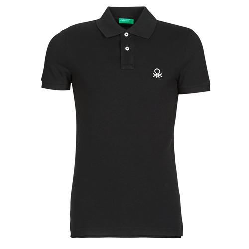 Clothing Men Short-sleeved polo shirts Benetton MARNELLI Black