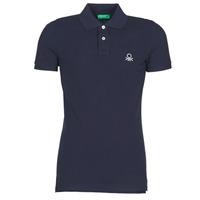 Clothing Men Short-sleeved polo shirts Benetton MARAKY Marine