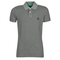 Clothing Men short-sleeved polo shirts Benetton MARADI Grey