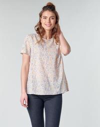 Clothing Women Tops / Blouses Benetton DANIEL White / Multicolour