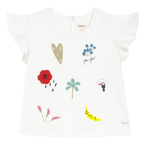 Clothing Girl short-sleeved t-shirts Catimini NADEGE White