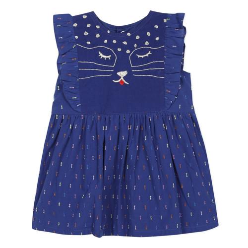 Clothing Girl Short Dresses Catimini CHARLES Blue