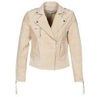 Clothing Women Leather jackets / Imitation leather Vila VICRIS Beige