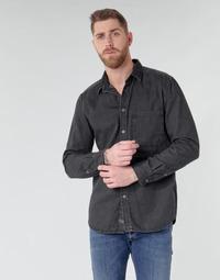 Clothing Men Long-sleeved shirts Diesel D-BER-P Black