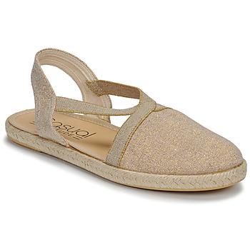 Shoes Women Sandals Casual Attitude MISSA Beige / Gold