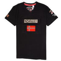 Clothing Boy short-sleeved t-shirts Geographical Norway JIRI Black