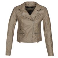 Clothing Women Leather jackets / Imitation leather Vero Moda VMULTRAMALOU Taupe