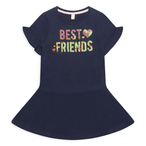 Clothing Girl Short Dresses Esprit EDINA Marine