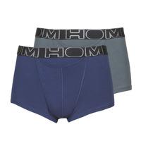 Underwear Men Boxer shorts Hom HOM BOXERLINES BOXER BRIEF HO1 PACK X2 Grey / Marine