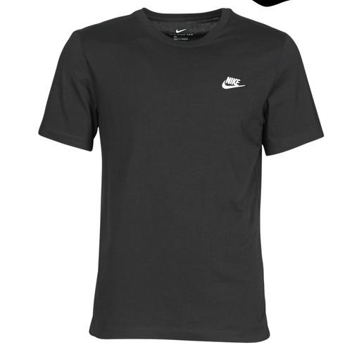 Clothing Men Short-sleeved t-shirts Nike M NSW CLUB TEE Black / White