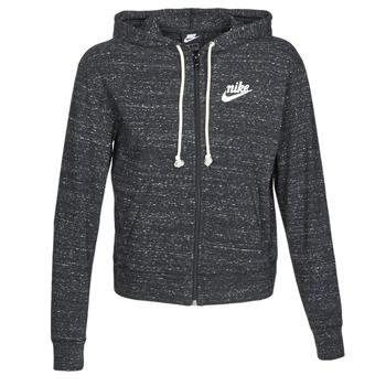 Clothing Women sweaters Nike W NSW GYM VNTG HOODIE FZ Black / Sail