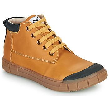 Shoes Boy Hi top trainers GBB SHEN Cognac