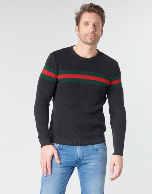 Clothing Men Jumpers Casual Attitude BAOLI Black