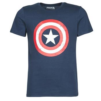 Clothing Men short-sleeved t-shirts Casual Attitude CAPTAIN AMERICA LOGO Marine