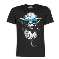 Clothing Men short-sleeved t-shirts Casual Attitude DJ YODA COOL Black