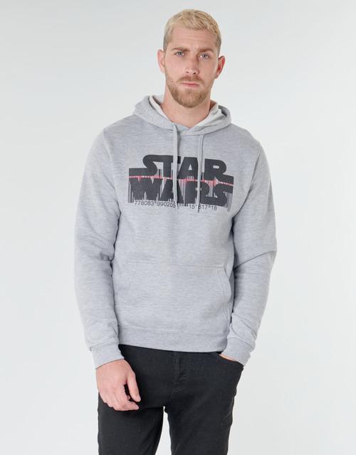 Clothing Men Sweaters Casual Attitude Star Wars Bar Code Grey