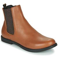 Shoes Girl Mid boots GBB ARANA Cognac