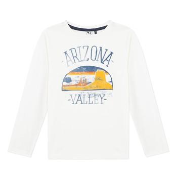 Clothing Boy Long sleeved tee-shirts 3 Pommes 3R10005-19-C White