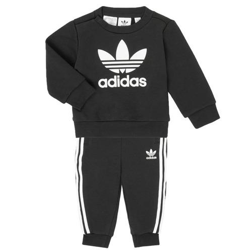 Clothing Children Sets & Outfits adidas Originals CREW SET Black