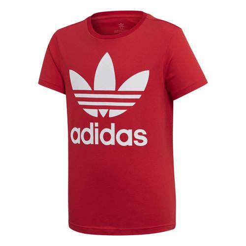 Clothing Children Short-sleeved t-shirts adidas Originals TREFOIL TEE Red