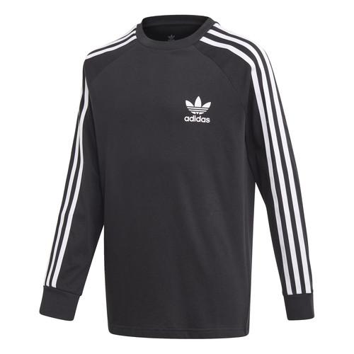 Clothing Boy Long sleeved tee-shirts adidas Originals 3STRIPES LS Black