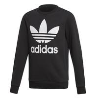 Clothing Children Sweaters adidas Originals TREFOIL CREW Black