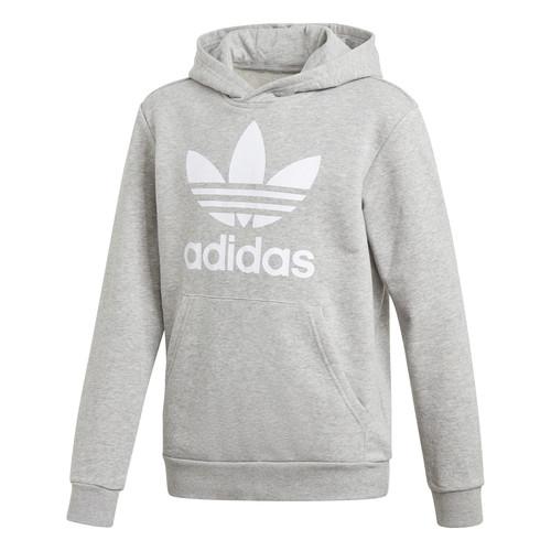 Clothing Boy Sweaters adidas Originals TREFOIL HOODIE Grey