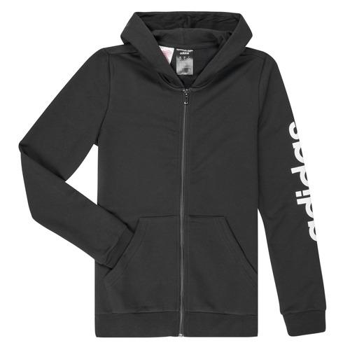 Clothing Girl Sweaters adidas Performance YG E LIN FZ HD Black