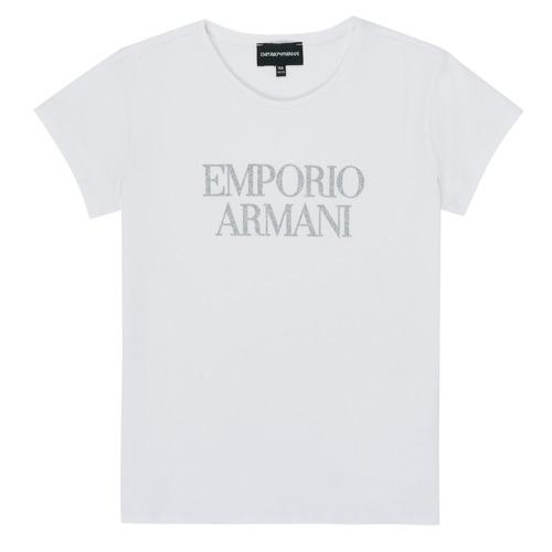 Clothing Girl Short-sleeved t-shirts Emporio Armani 8N3T03-3J08Z-0100 White