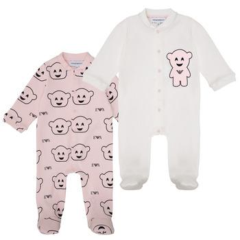 Clothing Girl Sleepsuits Emporio Armani 6HHV06-4J3IZ-F308 Pink