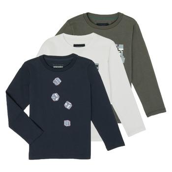 Clothing Boy Long sleeved tee-shirts Emporio Armani 6H4D01-4J09Z-0564 Multicolour