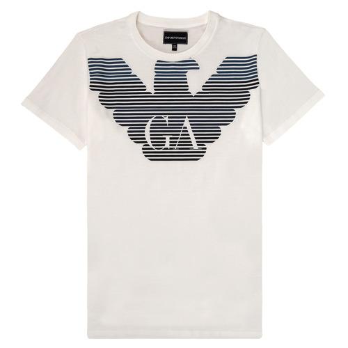 Clothing Boy Short-sleeved t-shirts Emporio Armani 6H4TQ7-1J00Z-0101 White