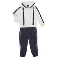 Clothing Boy Tracksuits Emporio Armani 6H4V02-1JDSZ-0101 Marine / White